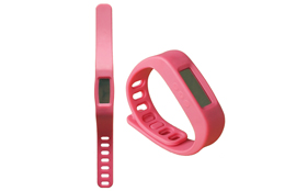 Silicone smart wearable device bracelet